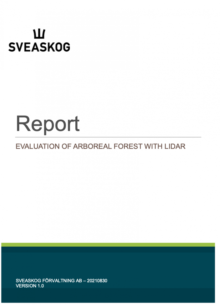 Evaluation of Arboreal Forest with Lidar