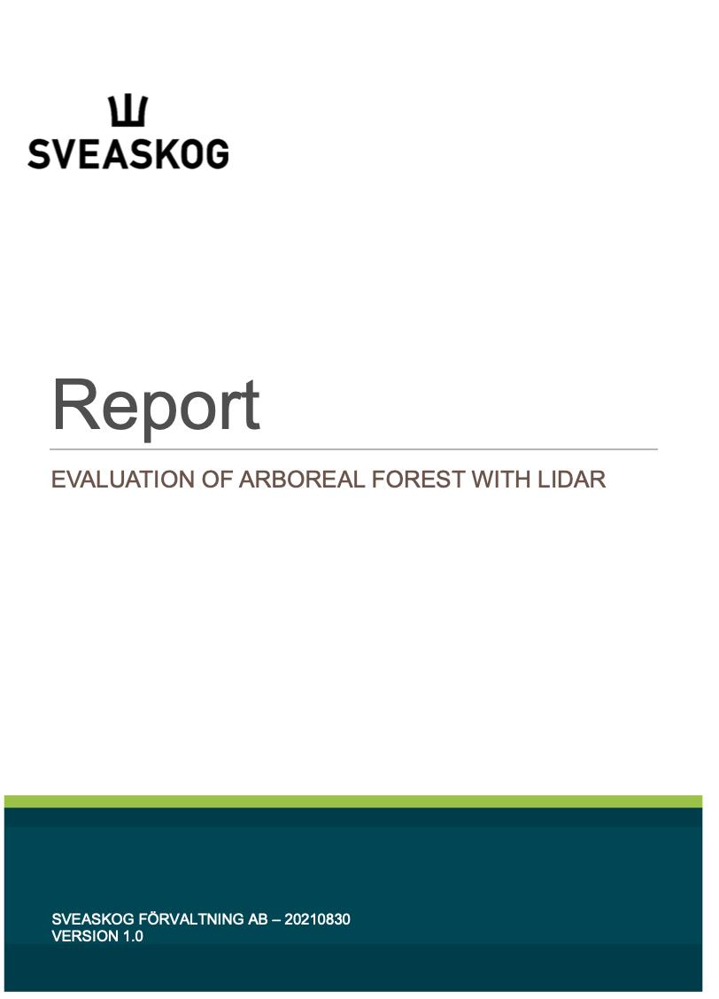 Utvärdering av Arboreal Skog med Lidar